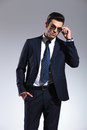 Business Man Taking Off His Sunglasses Stock Images - 49684994