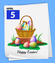 A Poster Showing The 5th Of April Royalty Free Stock Photos - 49695778