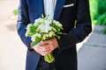Bride With A Wedding Bouquet Of White Stock Photo - 49699130