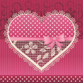 Valentine Card With Lace Heart Royalty Free Stock Photos - 49703168