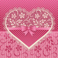 Greeting Card With Lace Heart Stock Image - 49703361