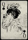 The Girl In Retro Style. Playing Card. Stock Photo - 49708930