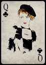 The Girl In Retro Style. Playing Card. Royalty Free Stock Photography - 49708937