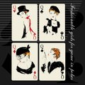 The Girl In Retro Style. Playing Card. Royalty Free Stock Photography - 49710867