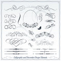 Calligraphic And Decorative Design Elements Stock Photography - 49714102
