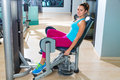 Hip Abduction Woman Exercise At Gym Indoor Stock Images - 49714584