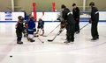 Learning To Play Hockey Stock Photo - 49716310