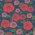 Elegant Seamless Floral Pattern With Roses Royalty Free Stock Photo - 49722665