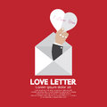 Heart In Hand Love Letter Concept Royalty Free Stock Photos - 49724028