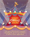 Circus Vintage Poster Royalty Free Stock Photography - 49731927