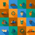Garbage Icons Set Royalty Free Stock Photography - 49733937