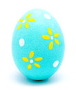 Painted Turquoise Easter Egg Isolated Royalty Free Stock Photos - 49737688