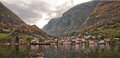 Village And Sea In Geiranger Fjord, Norway Stock Photography - 49741032