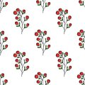 Seamless Pattern With Berries Royalty Free Stock Photos - 49745248