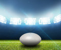 Rugby Stadium And Ball Stock Images - 49746384