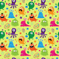 Bright Seamless Pattern With Aliens Stock Image - 49746591