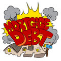 Crushing Mortgage Debt Royalty Free Stock Photography - 49748637