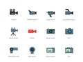 Camera Color Icons On White Background Stock Photo - 49748850