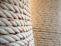 Thick Rope Wrapped Around A Pillar Stock Photography - 49753362