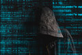Faceless Hooded Anonymous Computer Hacker Stock Images - 49753774