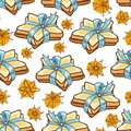 Seamless Pattern Cookies Stock Photography - 49764692