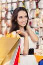 Happy Beautiful Woman Shopping Stock Photo - 49769220