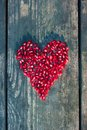 Pomegranate Seeds In Heart Shape Royalty Free Stock Photography - 49772807