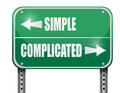 Simple Versus Complicated Road Sign Illustration Stock Image - 49801971