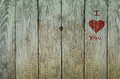 Love Graffiti On Weathered Old Fence Royalty Free Stock Images - 49804579