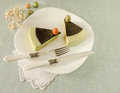 Easter Cake With Tea Matcha Decorated Chocolate Ganache And Sweet-stuff Eggs Royalty Free Stock Images - 49805029
