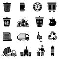 Garbage Icons Black Royalty Free Stock Images - 49818449