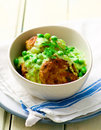 Cutlets With Sauce From Peas Stock Photos - 49828143