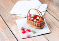 Basket With Colorful Sweet Candies Stock Photos - 49828593