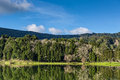 Beautiful Forest Landscape With Lake And Mountains Stock Images - 49833434