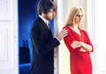 Portrait Of The Quarrelsome Couple Royalty Free Stock Image - 49836196