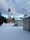 Light House In Winter Stock Photos - 49837133