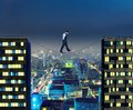 Businessman Thinking Going The Tightrope Royalty Free Stock Photo - 49838265
