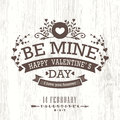 Valentine Day Card With Floral Vintage Frame On Wooden Background Royalty Free Stock Photos - 49852128