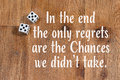 Chances In Life Quote Dice On Wood Background Royalty Free Stock Photos - 49855388