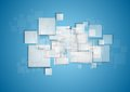 Light Grey Squares On Blue Background Stock Image - 49855881