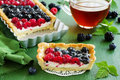 Cake With Summer Berries. Royalty Free Stock Photo - 49856765