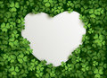 Clover Leaves Background With Blank Card Royalty Free Stock Photography - 49859787