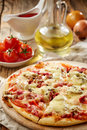 Freshly Baked Pizza Royalty Free Stock Photography - 49887667