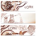 Coffee Backgrounds Set Royalty Free Stock Images - 49893659