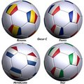 Four Soccer-balls With Flags Royalty Free Stock Photos - 4990368