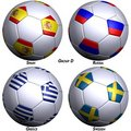 Four Soccer-balls With Flags Stock Photography - 4990372