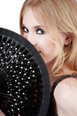 Girl With Fan Royalty Free Stock Photo - 4997475