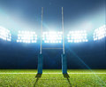 Rugby Stadium And Posts Stock Photos - 49908633