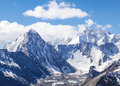 Snowy Mountain Peaks Stock Images - 49922104