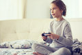 Child Playing Video Game Royalty Free Stock Photography - 49932077